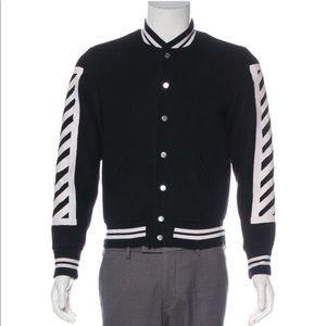 Off-white Brush diagonals varsity jacket